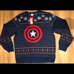 Captain America Ugly Christmas Sweater XXL